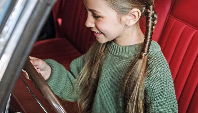 Fondssparplan Kind Mädchen Auto